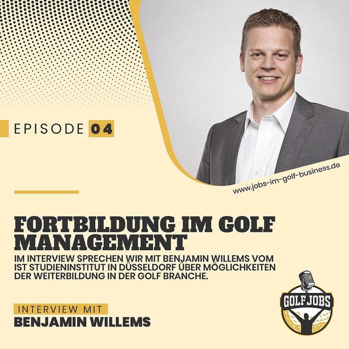 Fortbildungen Golf - Interview IST Düsseldorf Golfbetriebsmanager Benjamin Willems