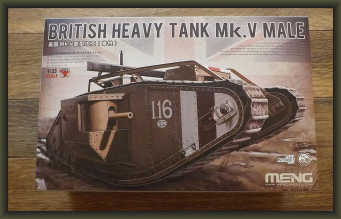 British Heavy Tank Mk.V Male Meng Model - No. TS-020 - 1:35