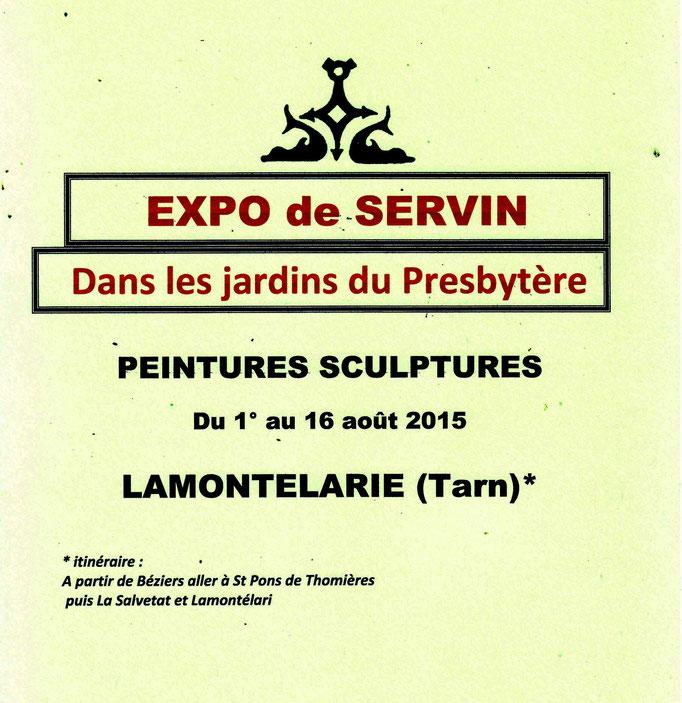 carton d'invitation expo au jardin 2015