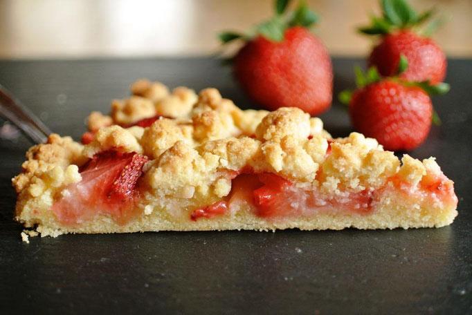 Ruck-zuck-Streuselkuchen mit dem Thermomix - Streusel und Obst (mit Äpfeln, Birnen, Kirschen, Zwetschgen ...)