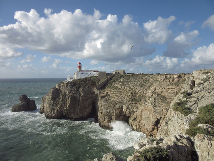 Cabo de Sao Vicente Leuchtturm lighthouse Klippe Atlantik