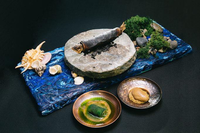 "Yasuhiro Fujios Signature Dish ""Across the Sea"" Foto: S.Pellegrino"