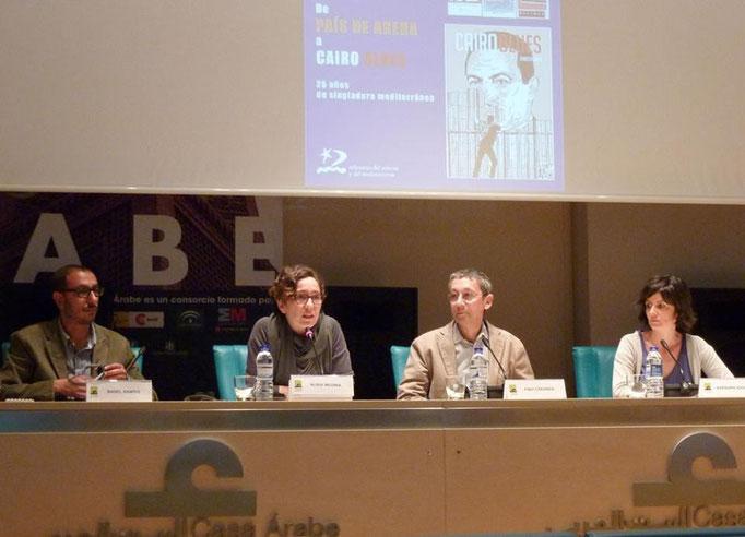 Con Basel Ramsis, Nuria Medina, Pino Creanza e Bárbara Azaola