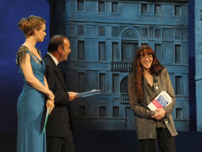 A destra Laura Pariani