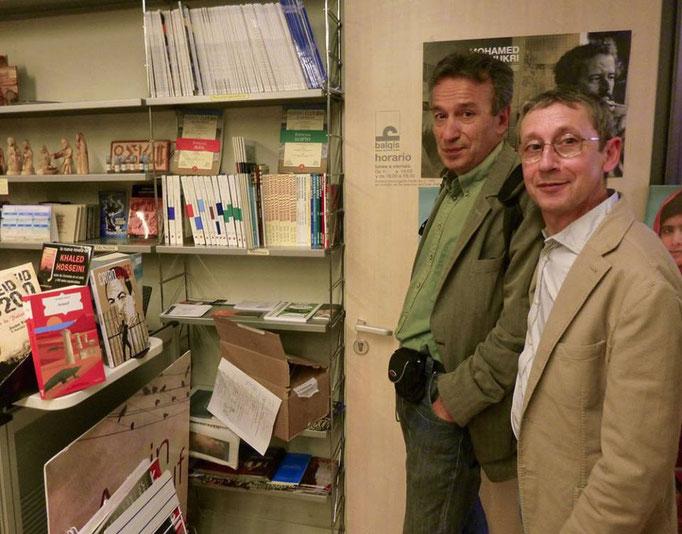 al bookshop della Casa Arabe, con Fernando García Burillo ePino Creanza
