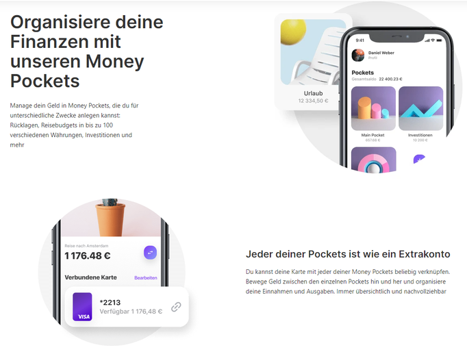 Vivid Money Pockets und shared Pockets