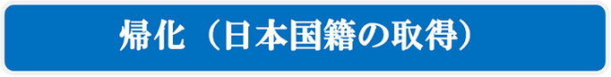 帰化(日本国籍の取得)