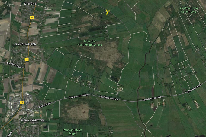 Das Moor bei Niedersandhausen im Landkreis Osterholz.