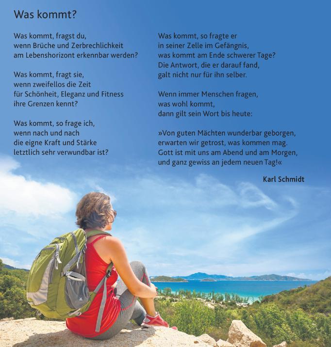 Sonntagsblatt, Nr. 19/10. Mai 2020, S. 32, Text © Karl Schmidt; Foto: softlight69/123rf.com