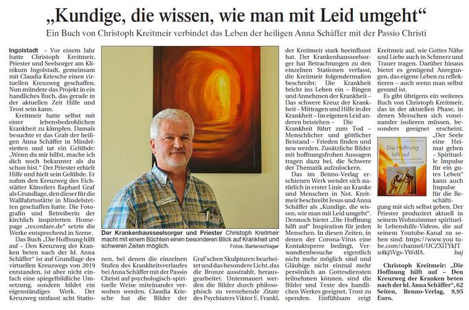 Erschienen am 21.04.20 im Donaukurier, S. 14; Text und Fotos: Josef Bartenschlager