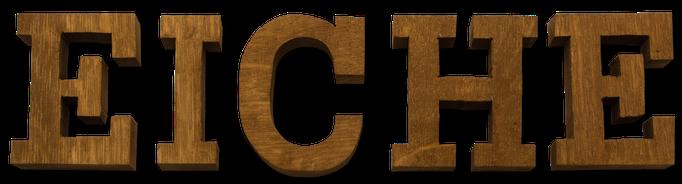 Holzbuchstaben Eiche