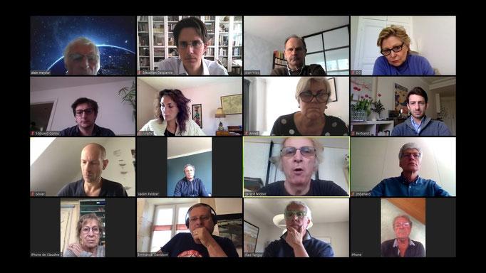 Les réunions quotidiennes d'Aviation Sans Frontières se font par vidéoconférence.