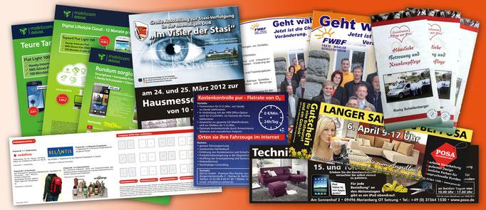 Flyer, Plakate, Prospekt, Anzeigen