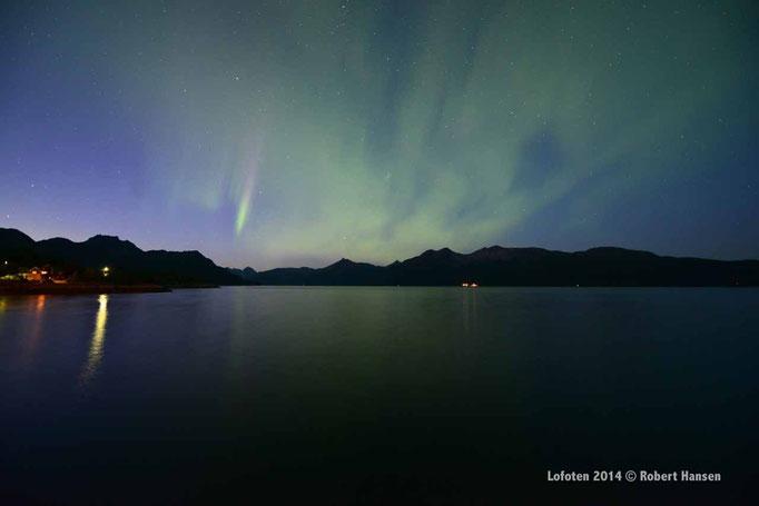 Nordlys - Polar Light - Nordlicht. Svartskard/Lofoten, 31.08.2014, 23:42 © Robert Hansen