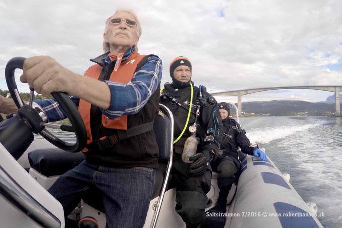Bootstauchgang: Fredric kennt den Saltstraumen © Robert Hansen