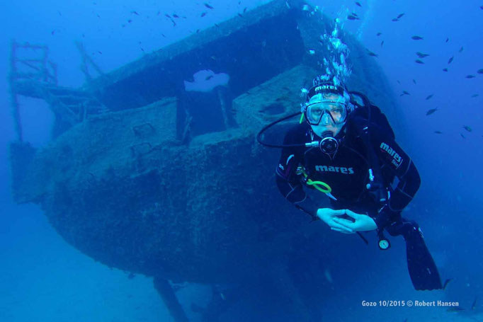 Tillfisch vor der MS Cominoland © Robert Hansen, Gozo Oktober 2015