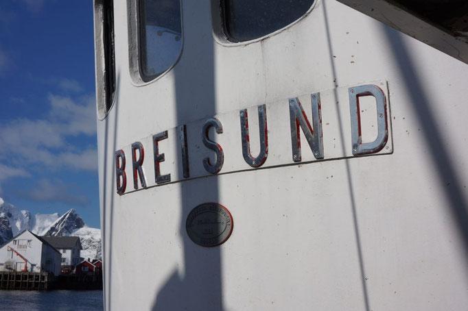 Das Holzboot Breisund wurde 1973 gebaut. © Robert Hansen, Hamnøya, April 2014