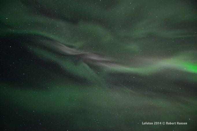 Nordlys - Polar Light - Nordlicht. Delp/Lofoten, 22.09.2014, 23:45 © Robert Hansen