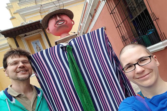 Endlich mal jemand der grösser ist als Gerrit in Guatemala.