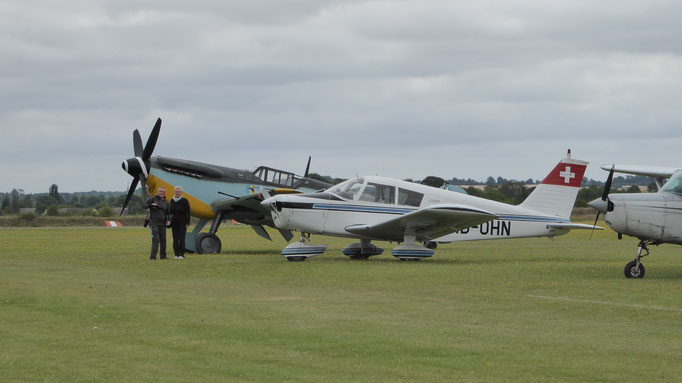 Parking with warbirds