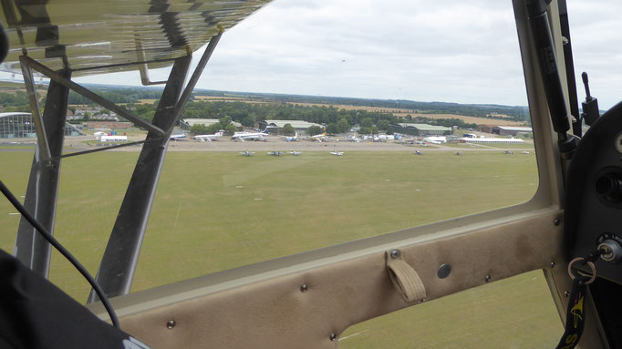 Departing Duxford for Le Touquet