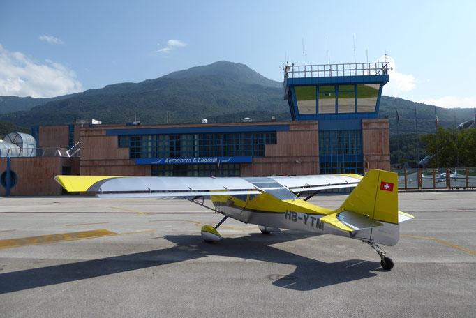 Trento benützen wir als Fuelstop auf dem Rückflug