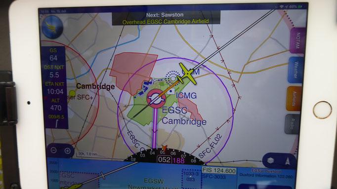 Departure Cambridge for Duxford