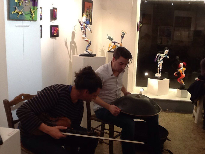 Vernissage Boris au  Violon et Quentin au  Hang