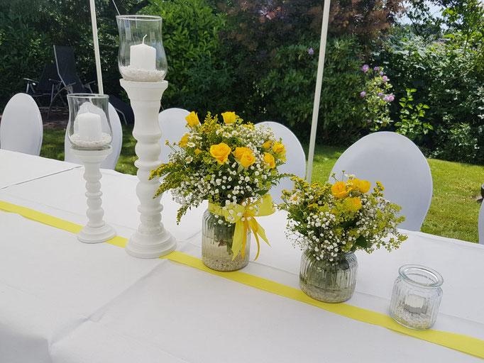 Tischdekoration / Hochzeitsdeko