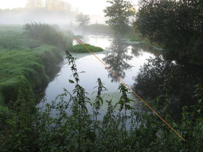 Ufer links, Richtung SW (23.9.12)
