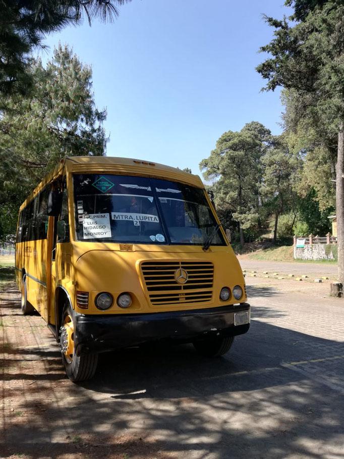 Transporte escolar para rutas de escuelas en ciudad de mexico