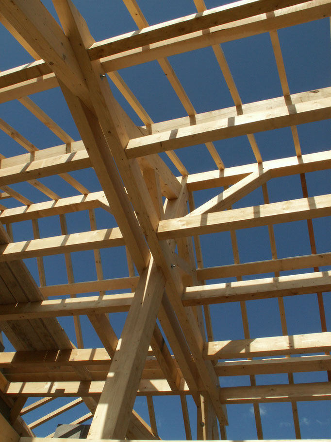 Maison contemporaine charpente bois moderne