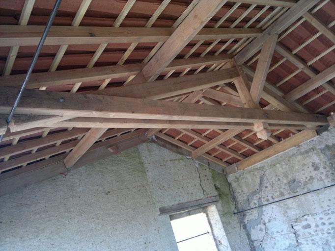 Réhabilitation de grange charpente bois