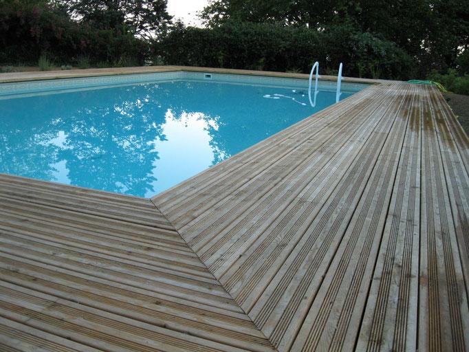 Terrasse de piscine - Serres Morlaas (64)