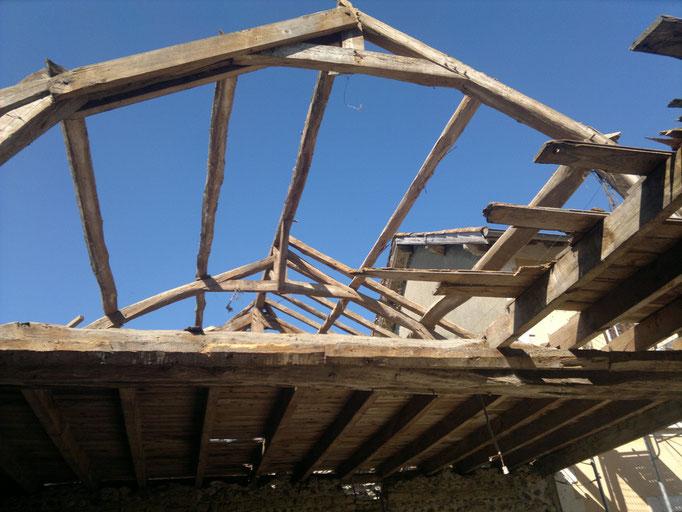 Réfection d'une grange à Sarriac (65)