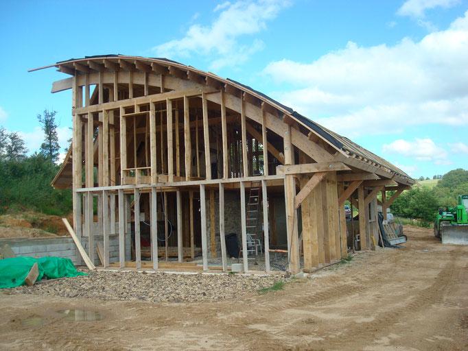 Eco-construction charpente bois