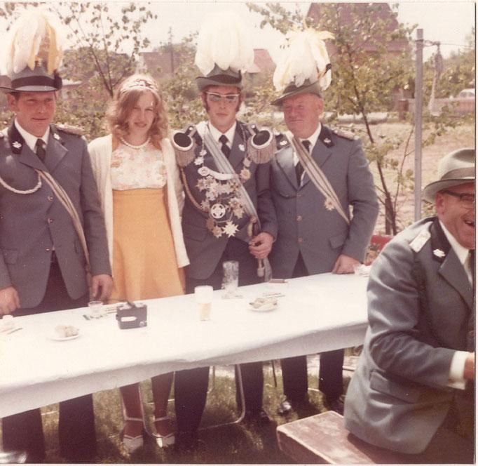 1974 König Heinz Strilziw und Inge