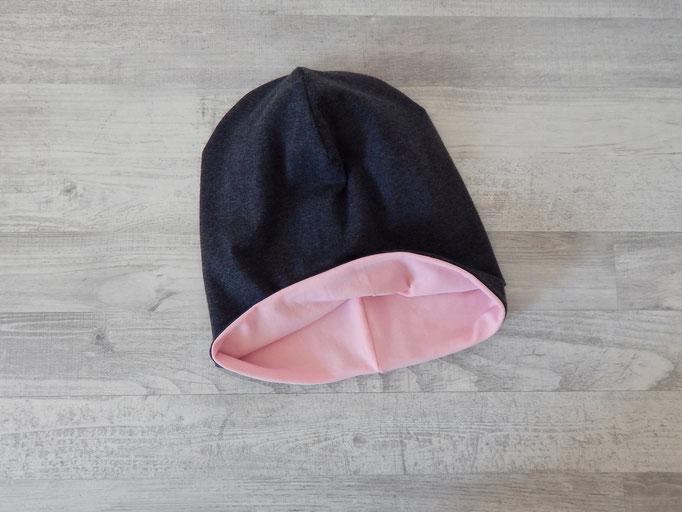 Beanie Beispiel Wendeseite rosa