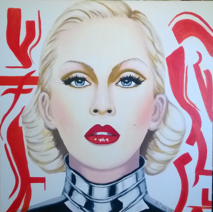 Christina A.  100x100x3 cm  Acryl auf Leinwand....
