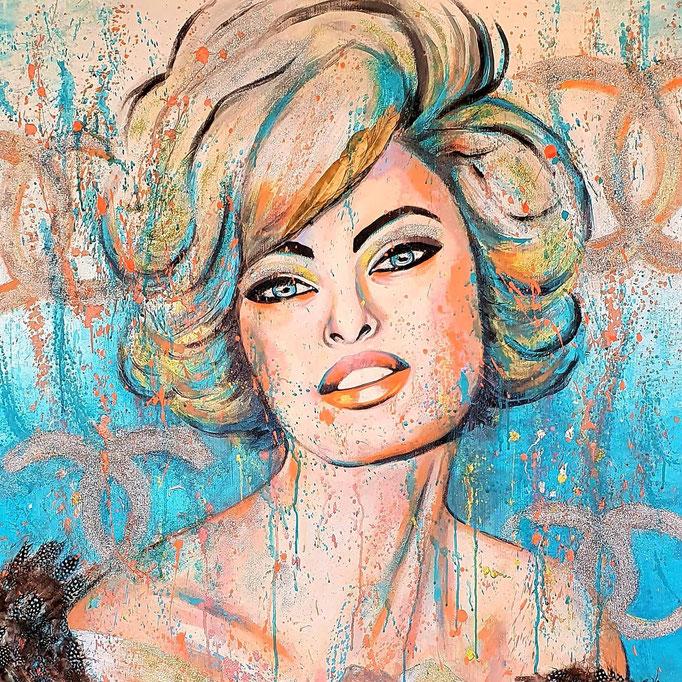 Glamour...100x100 cm