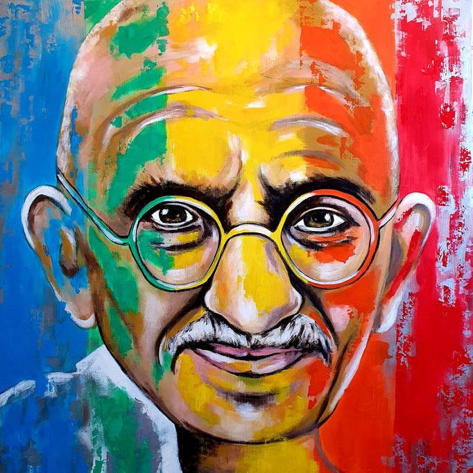Gandhi...100x100 cm