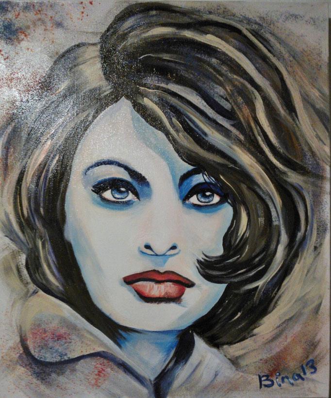Sofia Loren  60x40 cm Acryl auf Leinwand...