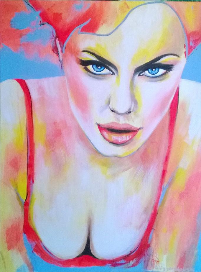 La Femme....120x90 cm  Acryl auf Leinwand.....