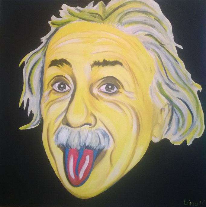 Einstein Ein Borusse  100x100x3 cm  Acryl auf Leinwand....