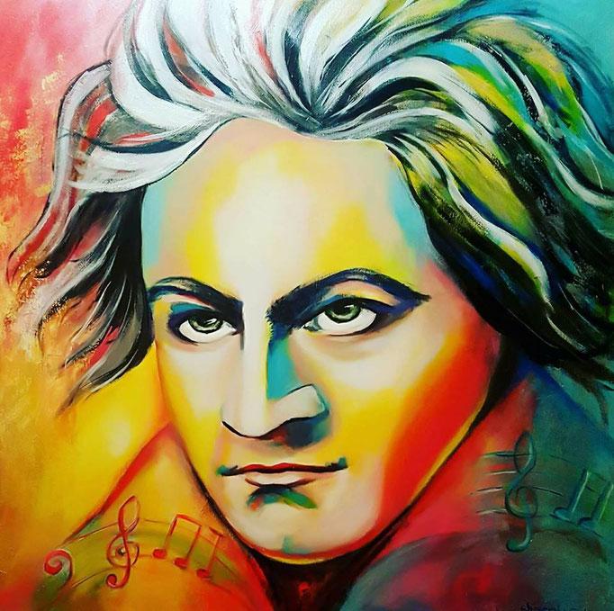 Beethoven....100x100 cm