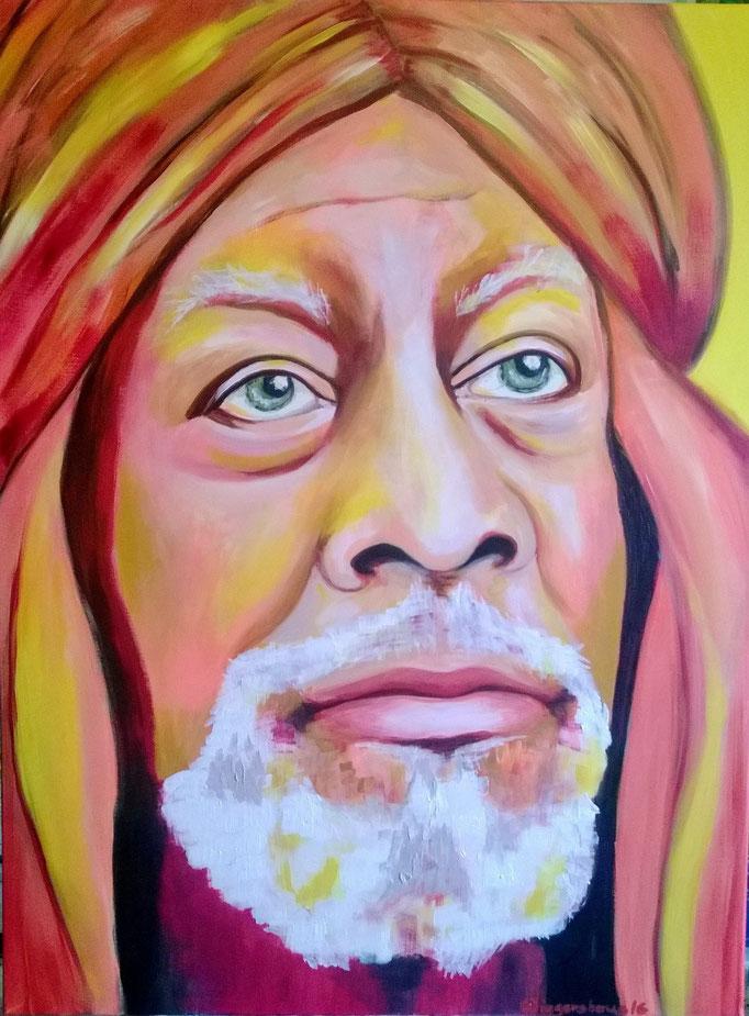 A wise man....120x90 cm   Acryl auf Leinwand