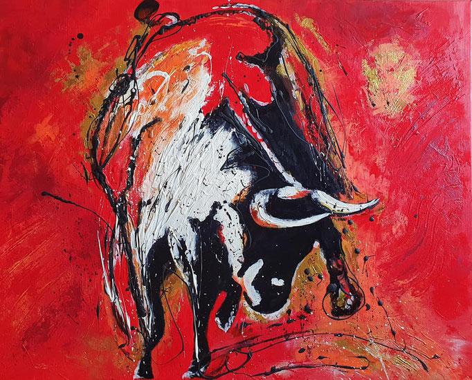 Ein Stier...100x80 cm