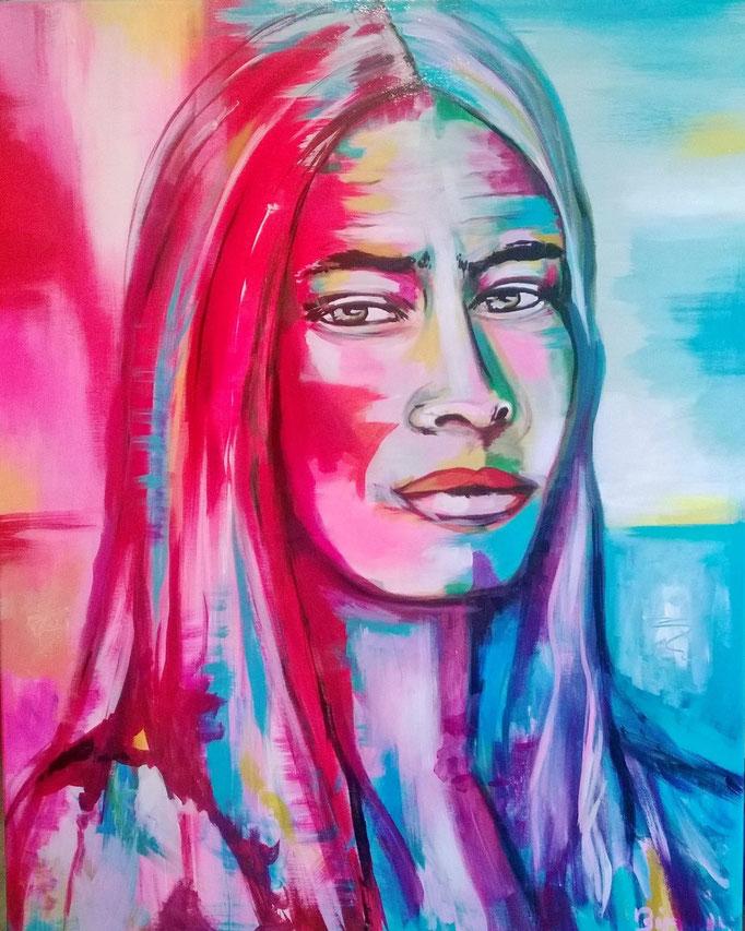 Crazy Horse  100x80 cm Acryl auf Leinwand