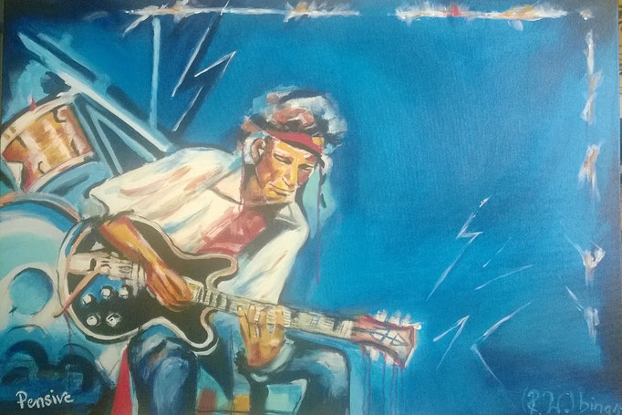 Keith Richards  100x70x3 cm  Acryl auf Leinwand....
