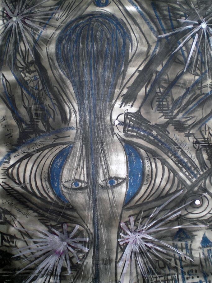 Traumvagine - 56 x 42 cm - 1993 - Mischtechnik - Malerei auf Papier